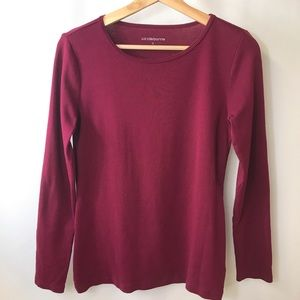 Liz Claiborne long sleeve tee small wine color